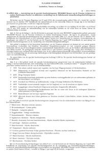 Aanwijzing SBZ Vlaamse Ardennen en bijbehorende IHD afbeelding