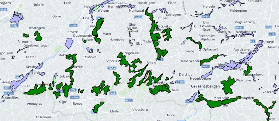 Habitatrichtlijngebieden in onze streek