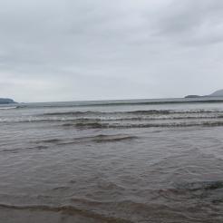 De zee gezien vanuit Waterville, met rechts zicht op Ballinskelligs