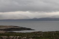 Wolken boven schiereiland Beara, gezien van tussen Caherdaniel en Sneem
