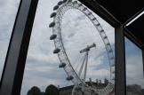 We laten London Eye achter ons.