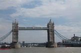 Tower Bridge is intussen in zicht.