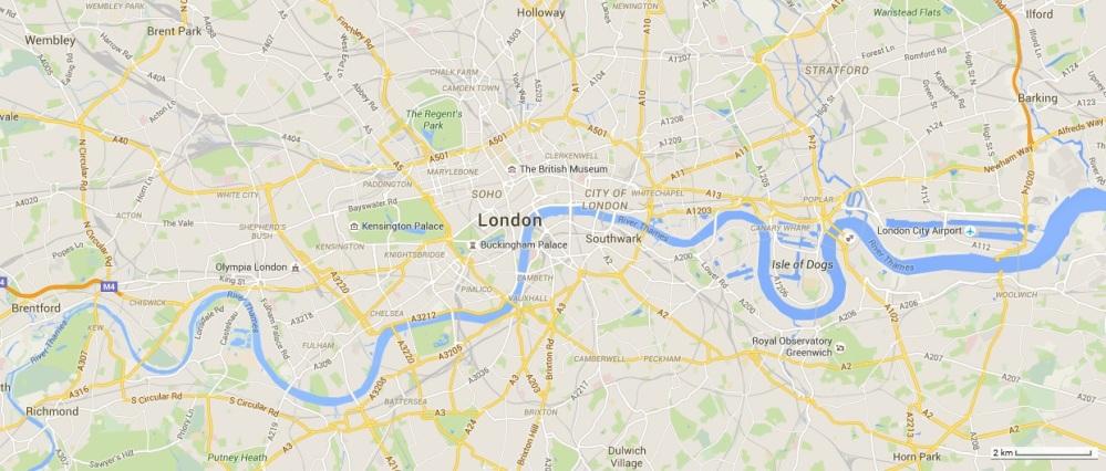 London met schaal