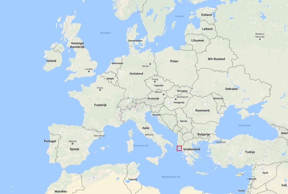 Corfu op kaart