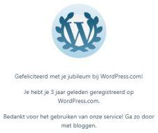3 jaar bloggen