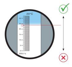 Refractometer aflezen