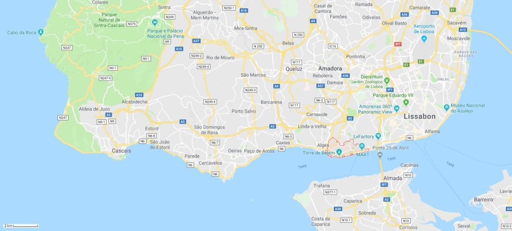 Belém tov Lissabon, Cascais en Sintra