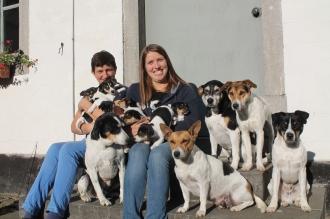 3 oktober - mama en zus Stefanie met onze 12 honden